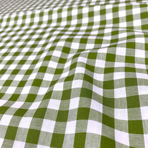 "YARN DYED COTTON GINGHAM 1/3"" IN SPRING GARDEN GREEN"