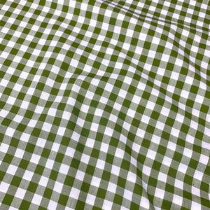 "YARN DYED COTTON GINGHAM 1/3"" IN SPRING GARDEN GREEN REMNANT 193CM X 145CM"