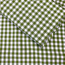 "Load image into Gallery viewer, YARN DYED COTTON GINGHAM 1/3"" IN SPRING GARDEN GREEN"