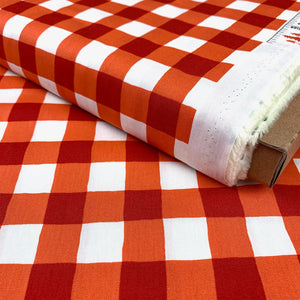 PLAID OF MY DREAMS JOYFUL ORANGE BY ART GALLERY FABRICS