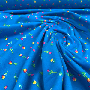 CARIBBEAN STREAM COTTON JERSEY BY ART GALLERY FABRICS
