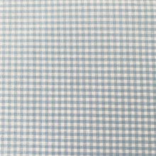 Load image into Gallery viewer, YARN DYED MINIATURE LIGHT BLUE COTTON GINGHAM