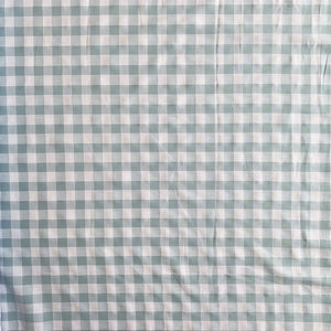 SKY BLUE TEXTURED COTTON GINGHAM