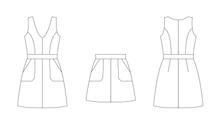 Load image into Gallery viewer, NINA LEE PATTERNS CAMDEN PINAFORE AND SKIRT