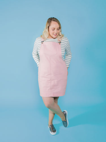 TILLY AND THE BUTTONS CLEO PINAFORE DUNGAREE DRESS PATTERN