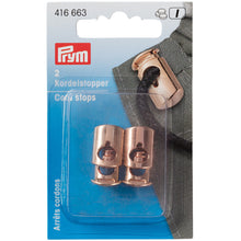 Load image into Gallery viewer, PRYM ROSE GOLD CORD STOPS