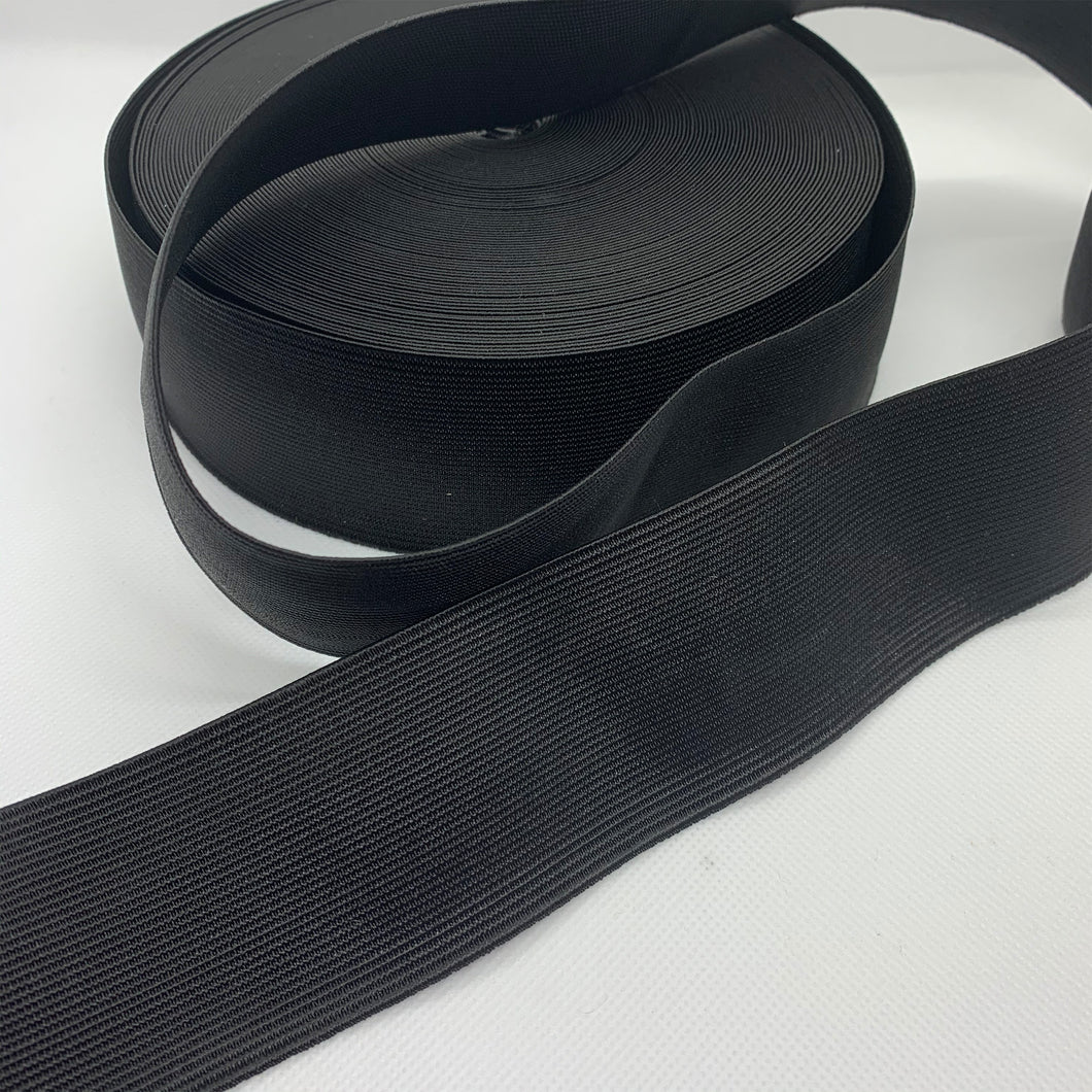 black waistband elastic 50mm