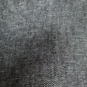 YARN DYED LINEN VISCOSE BLEND IN BLACK