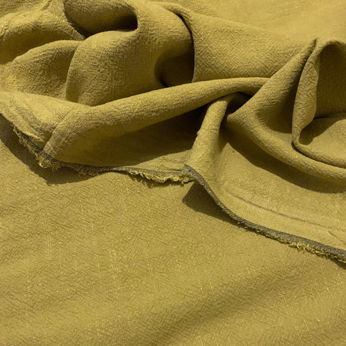 STONEWASHED LINEN FABRIC IN CHARTREUSE YELLOW GREEN