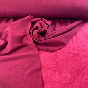 BORDEAUX RED ALPINE FLEECE SWEATSHIRTING FABRIC