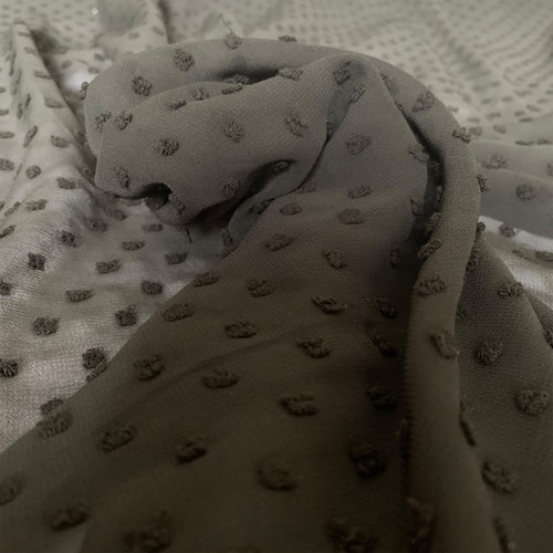 BLACK POLYESTER CHIFFON FABRIC