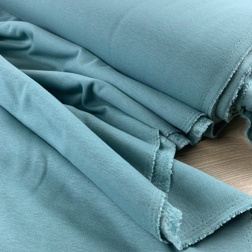 OLD GREEN ALPINE FLEECE SWEATSHIRTING FABRIC