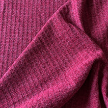 Load image into Gallery viewer, MAROON WAFFLE KNIT FABRIC
