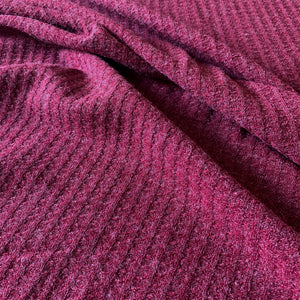 MAROON WAFFLE KNIT REMNANT 62CM X 150CM
