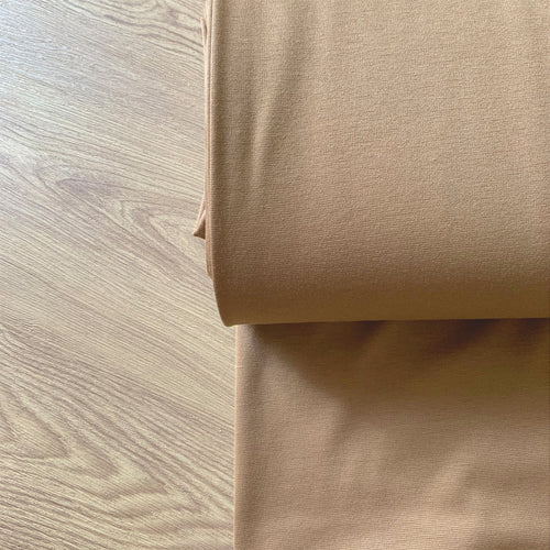 CAMEL BROWN PONTE ROMA JERSEY FABRIC