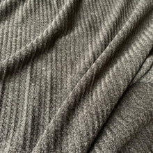 Load image into Gallery viewer, CHARCOAL GREY WAFFLE KNIT FABRIC