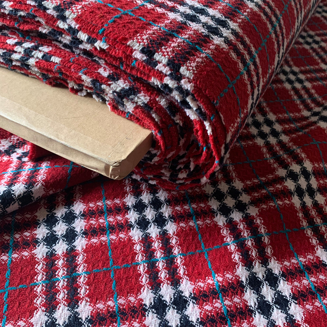 RED CHECK COATING FABRIC