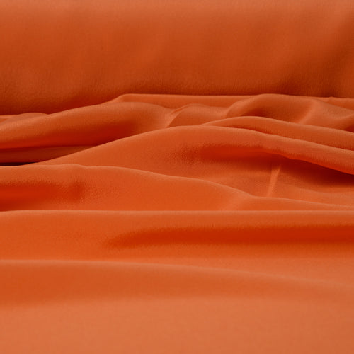 ORANGE SILK CREPE DE CHINE