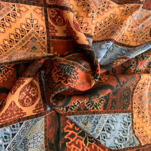 Load image into Gallery viewer, MOROCCAN PATCHWORK CREPE' DE CHINE- 216CM X 138CM
