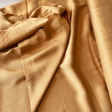 Load image into Gallery viewer, GOLDEN HONEY BROWN TENCEL TWILL FABRIC