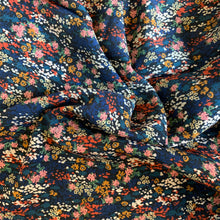 Load image into Gallery viewer, LADY MCELROY NAVY FLORAL VISCOSE CREPE