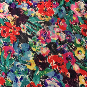 MADISON FLORAL VISCOSE TWILL FABRIC GODMOTHER