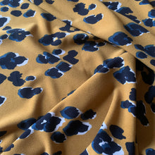 Load image into Gallery viewer, GOLDEN LEOPARD VISCOSE STRETCH CREPE FABRIC