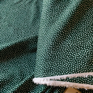 DOTTY ABOUT DOTS VISCOSE LAWN BOTTLE GREEN LADY MCELROY