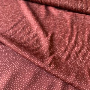 DOTTY ABOUT DOTS VISCOSE CHALLIS LAWN IN CINNAMON