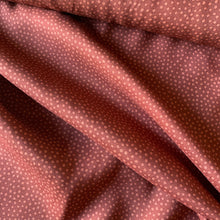 Load image into Gallery viewer, DOTTY ABOUT DOTS VISCOSE CHALLIS LAWN IN CINNAMON