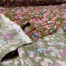 Load image into Gallery viewer, OLIVE & LILAC FLORAL VISCOSE