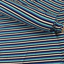 Load image into Gallery viewer, STRIPED RIB KNIT VISCOSE IN BLUE