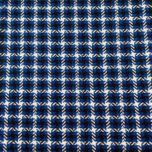 DOGTOOTH VISCOSE JERSEY IN ROYAL BLUE