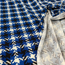 Load image into Gallery viewer, DOGTOOTH VISCOSE JERSEY IN ROYAL BLUE
