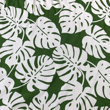 Load image into Gallery viewer, TROPICAL LEAVES ON OLIVE GREEN