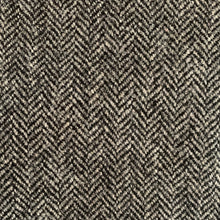 Load image into Gallery viewer, BLACK/ GREY HERRINGBONE WOOL