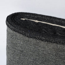 Load image into Gallery viewer, BLACK GREY HERRINGBONE WOOL