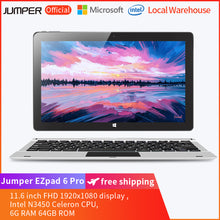 Load image into Gallery viewer, Jumper EZpad 6 Pro 2 in 1 11.6 inch Tablet PC with  Keyboard- Silver