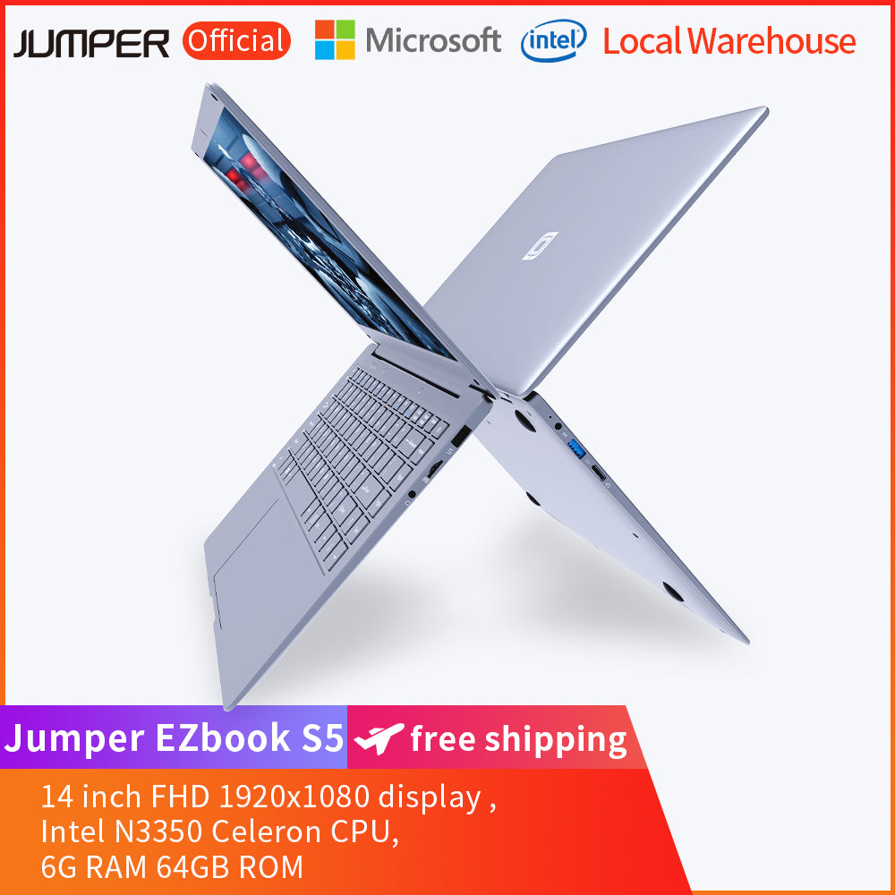 Jumper EZbook S5 14 inch Laptop 6GB RAM+64GB ROM-Grey