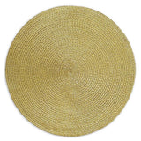 wholesale gold braided placemat