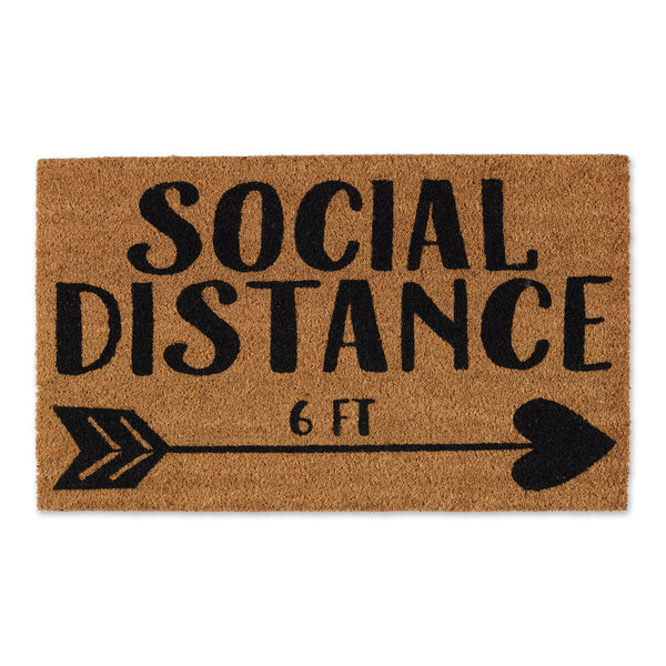 Social Distance Arrow Doormat