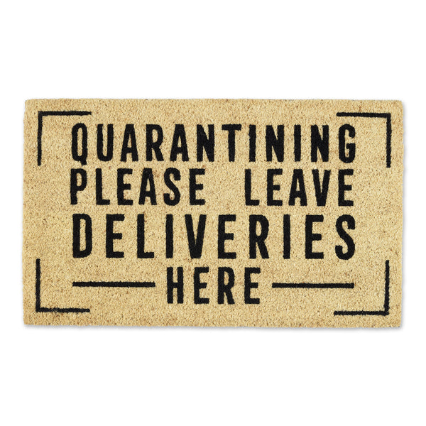 Deliveries Here Doormat