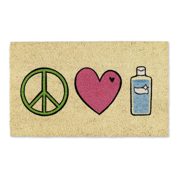 Peace Love Sanitizer Doormat