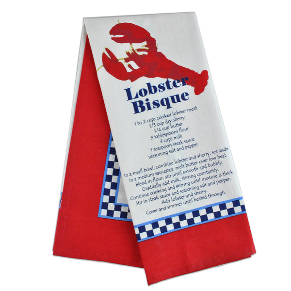 Lobster Bisque Printed Dishtowel - DII Design Imports
