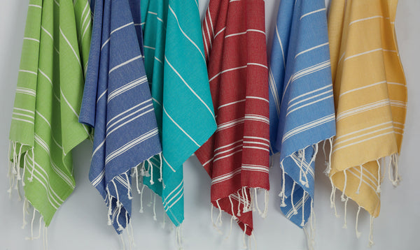 Wholesale - Ribbon Red Fouta Kitchen Towel - DII Design Imports - 3
