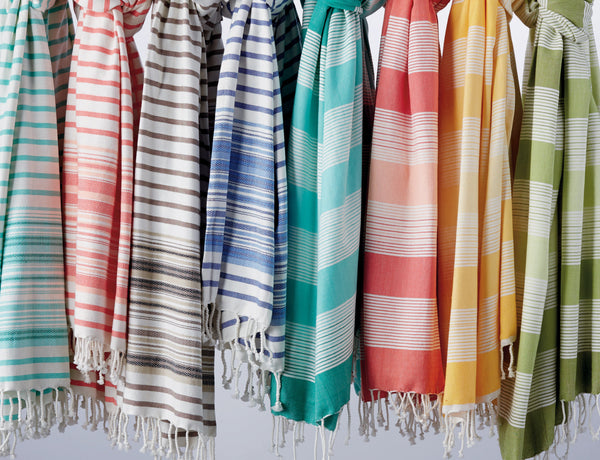Wholesale - French Taupe Stripe Fouta Towel/Throw - DII Design Imports - 6