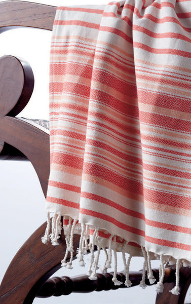 Wholesale - French Taupe Stripe Fouta Towel/Throw - DII Design Imports - 4
