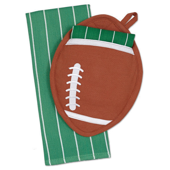 Football Potholder Gift Set with Dishtowel - DII Design Imports