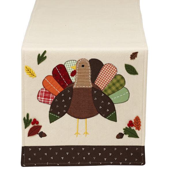 Turkey Embellished Table Runner - DII Design Imports