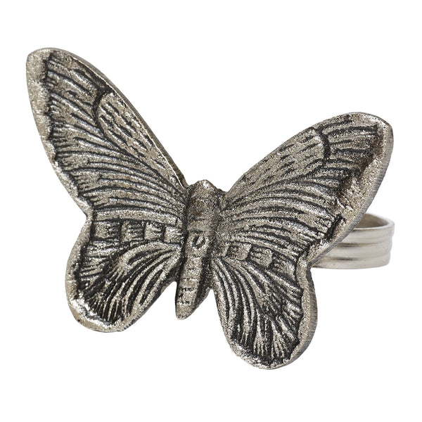 Antique Silver Butterfly Napkin Ring